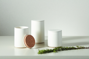 Thumbnail of Global Views - Encircle Canister with Cork Lid, Medium