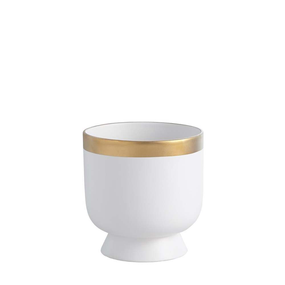 Global Views - Modern Gold Banded Vase, Small