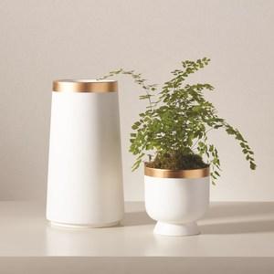 Thumbnail of Global Views - Modern Gold Banded Vase, Small