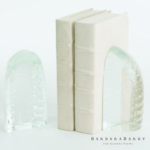 Thumbnail of GLOBAL VIEWS - Iceberg Bookends, Dewdrop Clear, Pair