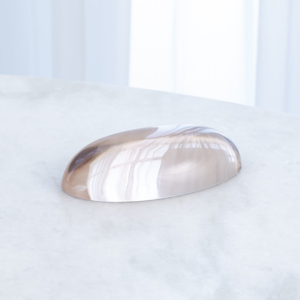 Global Views - Oval Paperweight, Blush