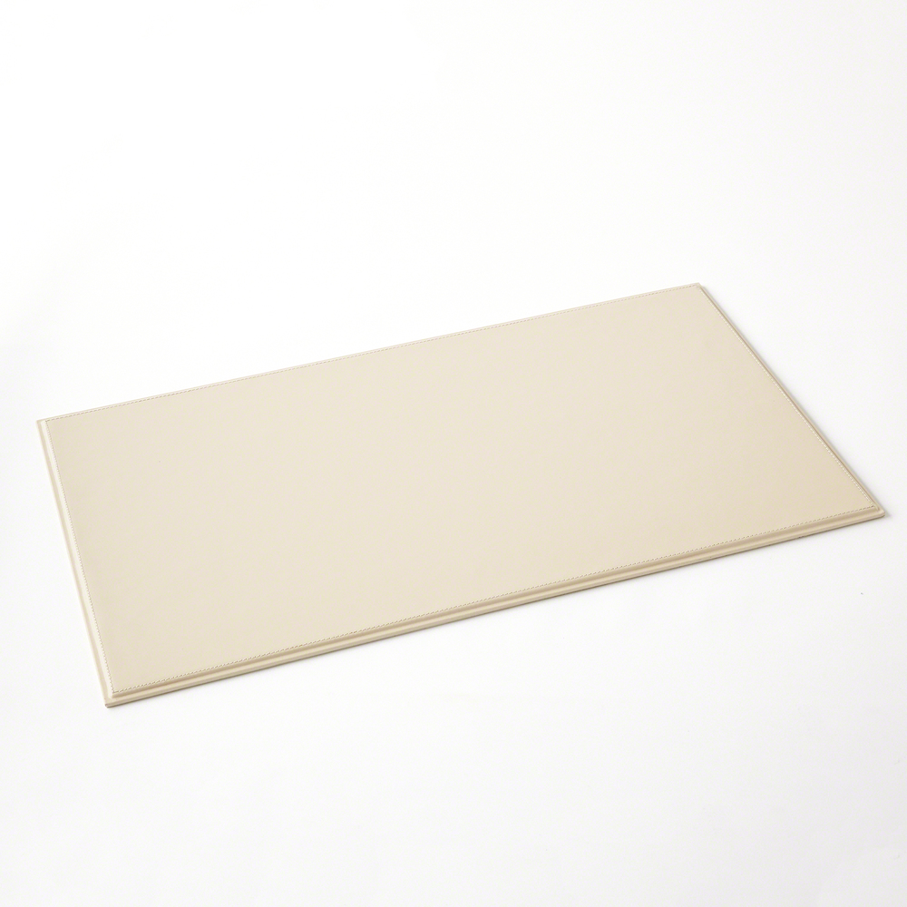 Global Views - Refined Leather Desk Blotter, Ivory