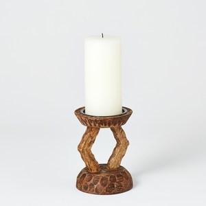 Thumbnail of Global Views - Lekana Carved Pillar Holder, Small