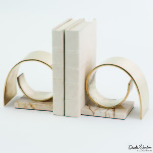 Thumbnail of GLOBAL VIEWS - Brass Swirl Bookends