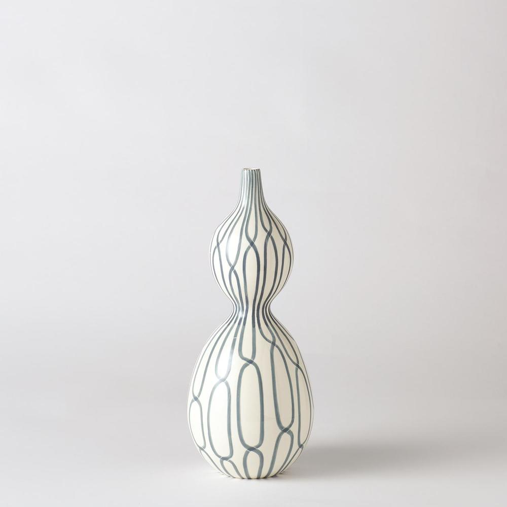 GLOBAL VIEWS - Linking Trellis Double Bulb Vase