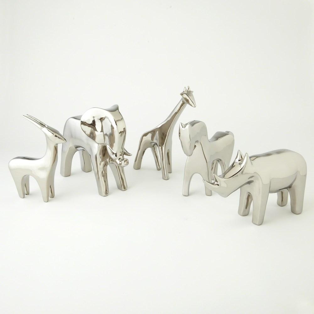 Global Views - Horse, Bright Silver