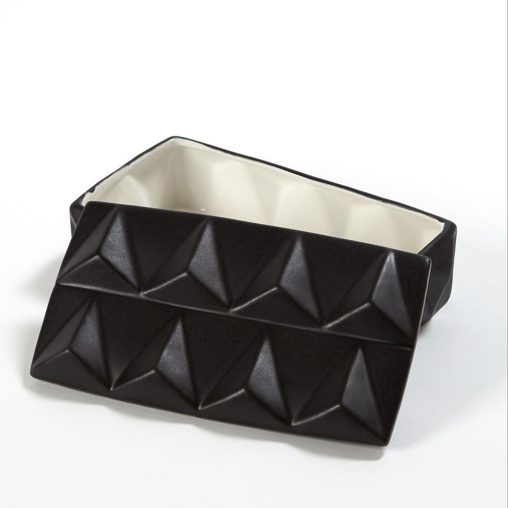 Global Views - Braque Box, Matte Black, Medium