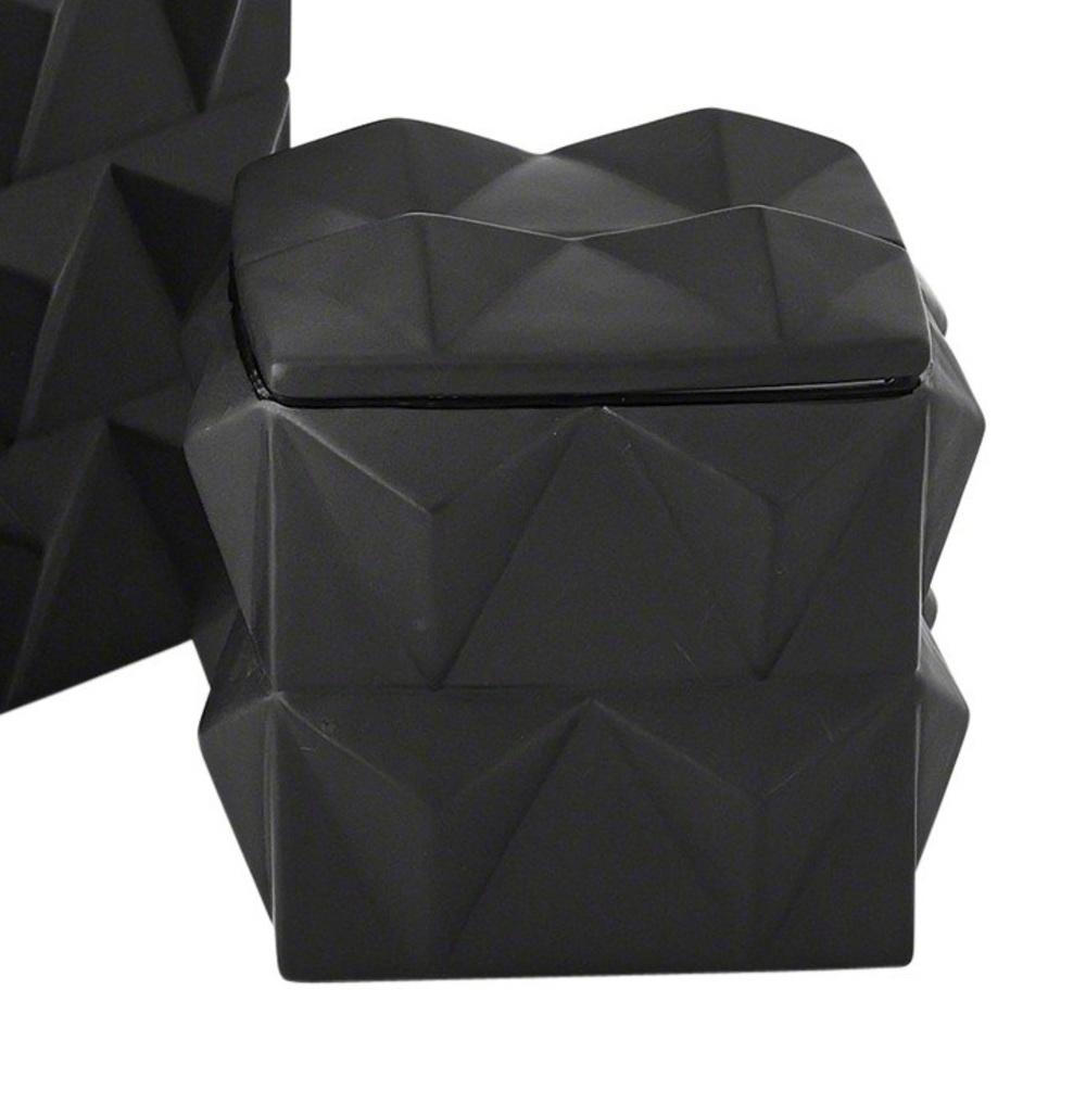 Global Views - Braque Box, Matte Black, Small