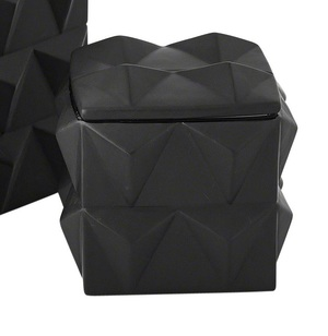 Thumbnail of Global Views - Braque Box, Matte Black, Small