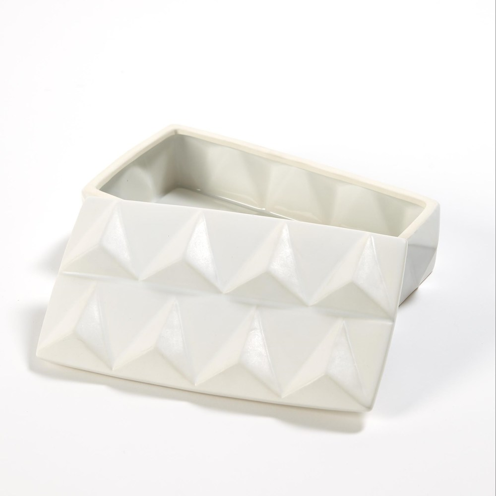 Global Views - Braque Box, Matte White, Medium