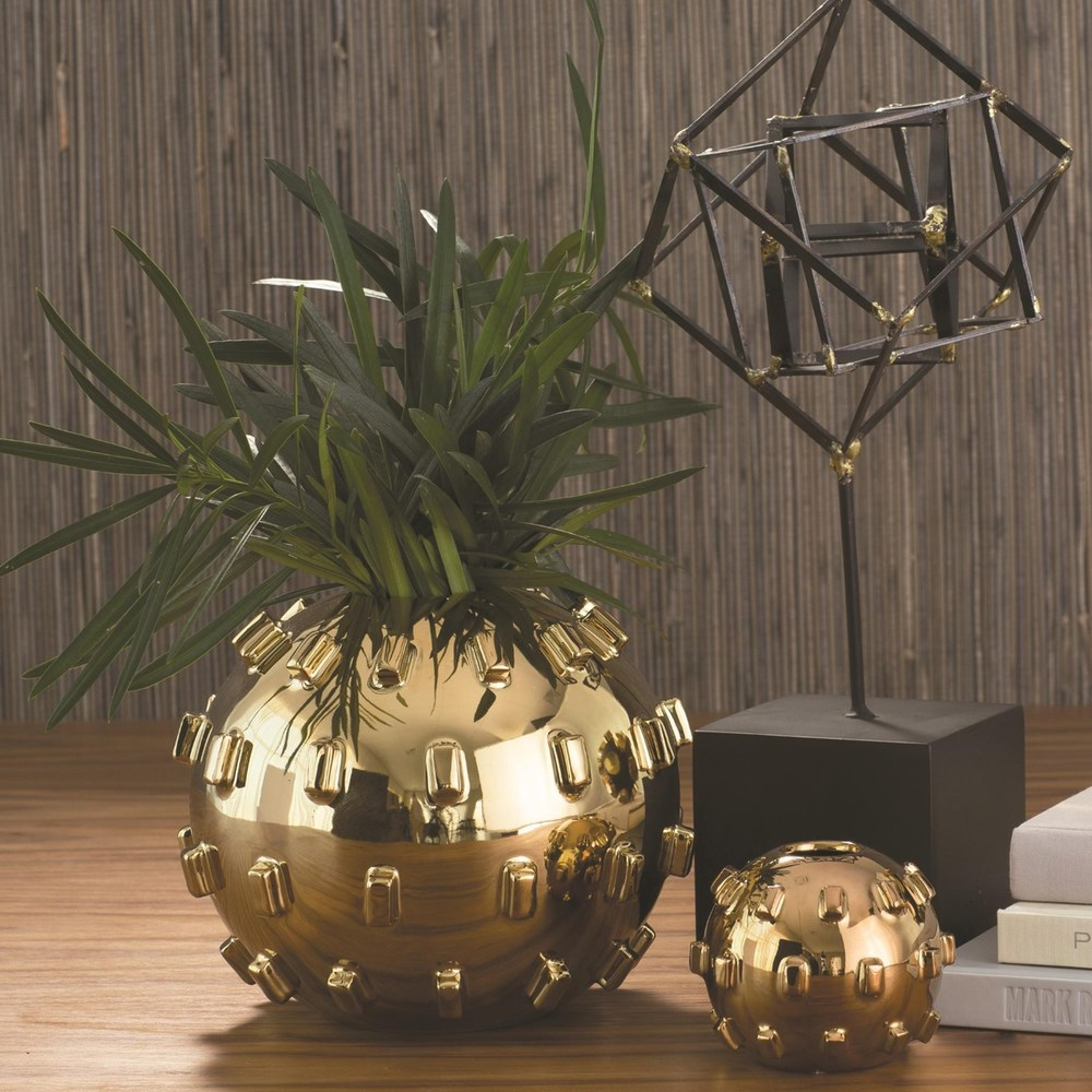 Global Views - Thielo Vase, Gold, Small