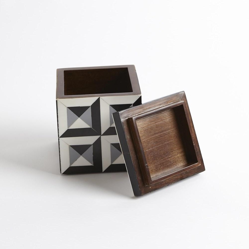 Global Views - Deco Border Square Box, Small