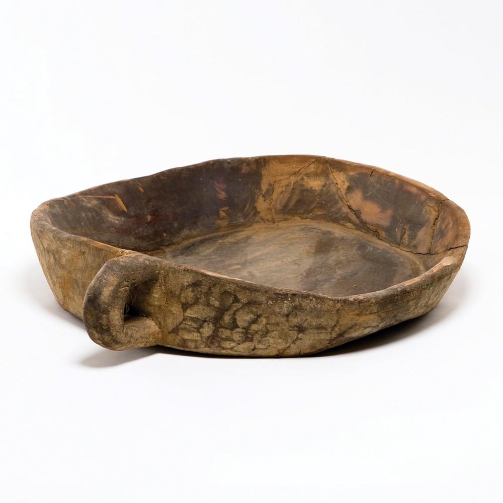 GLOBAL VIEWS - Wooden Tray Chipatti Bowl