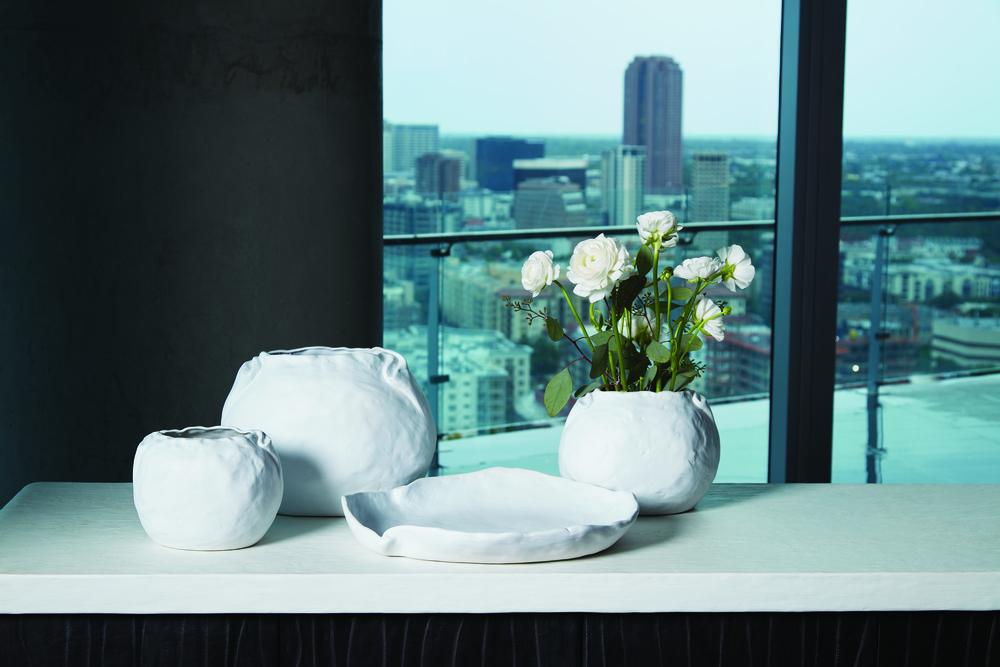 Global Views - Petale Vase, Matte White, Large