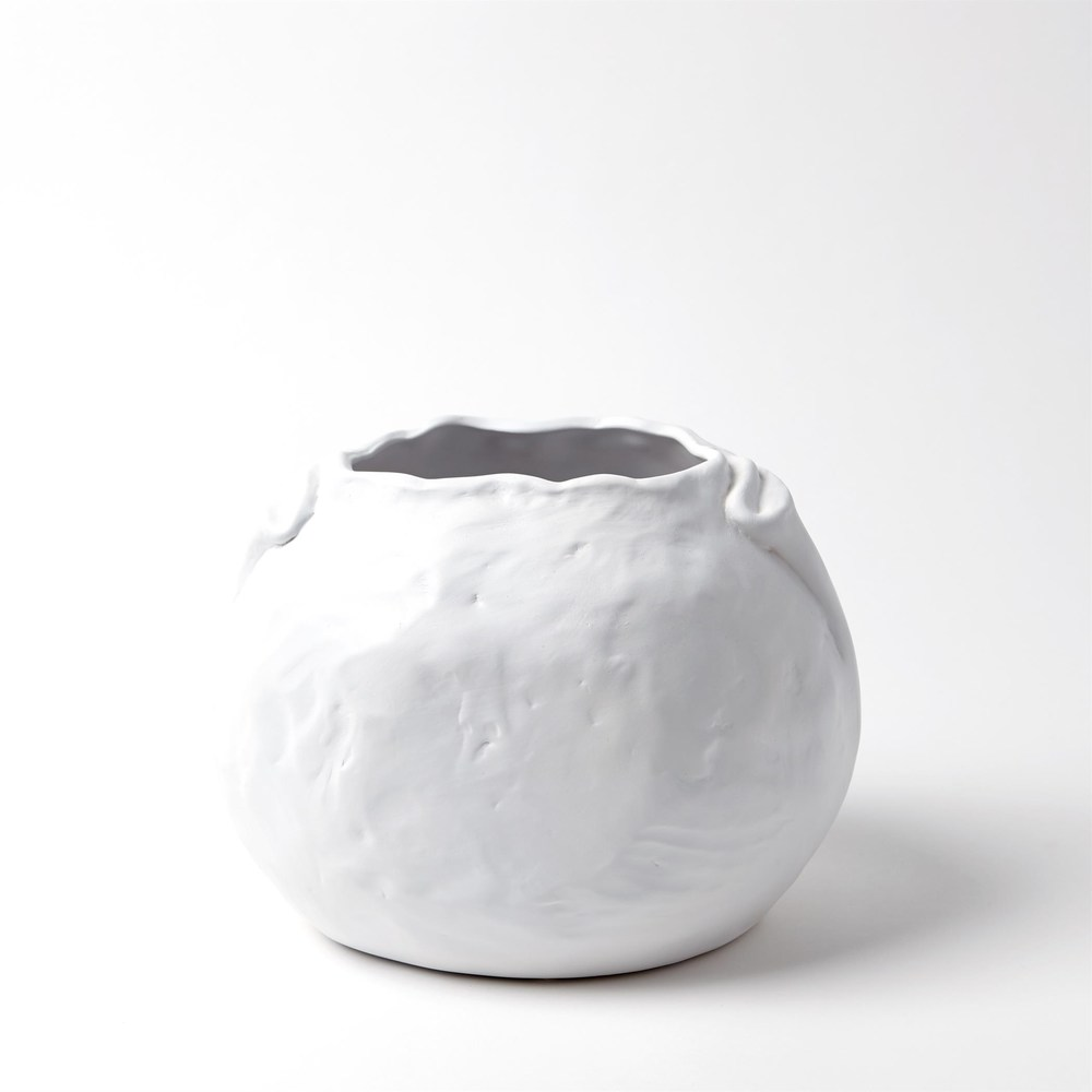 Global Views - Petale Vase, Matte White, Medium