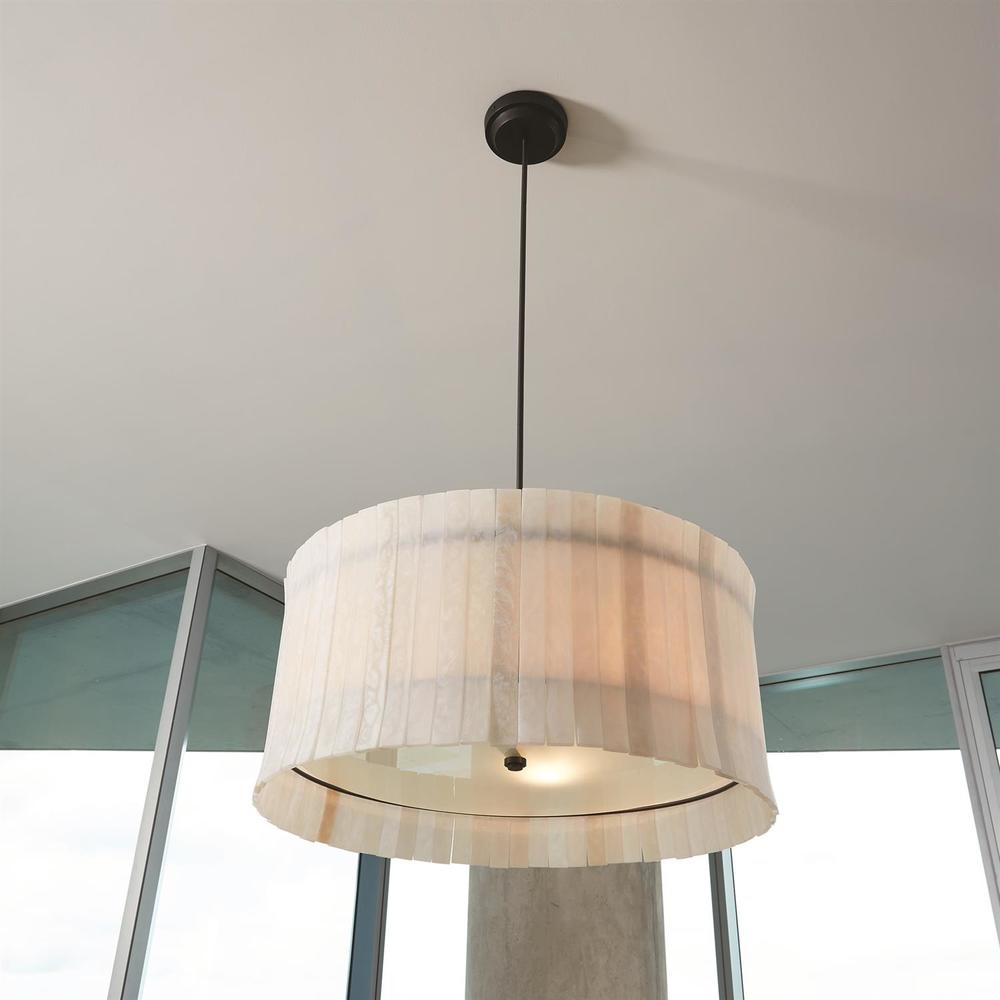 Global Views - Regine Chandelier, Natural Black