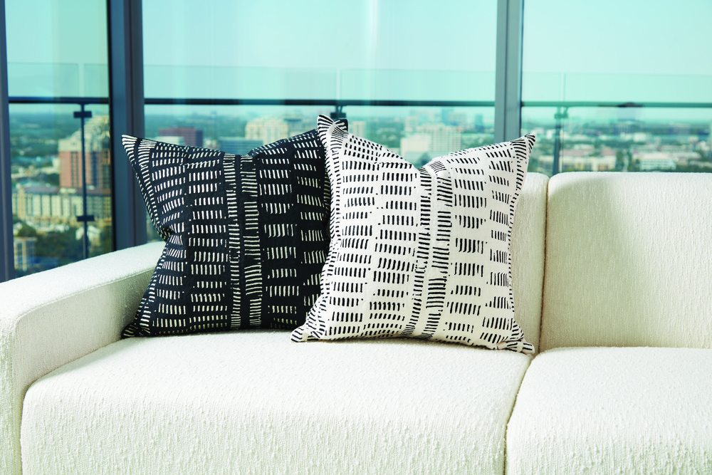 Global Views - Frequency Pillow, Black/Beige