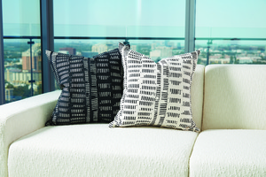 Thumbnail of Global Views - Frequency Pillow, Black/Beige