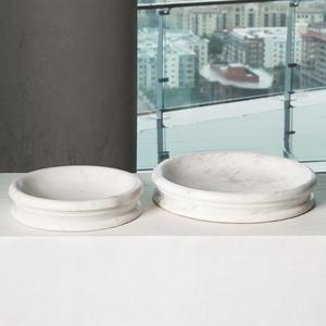 Thumbnail of Global Views - Caroline Centerpiece, White Banswara Marble, Small