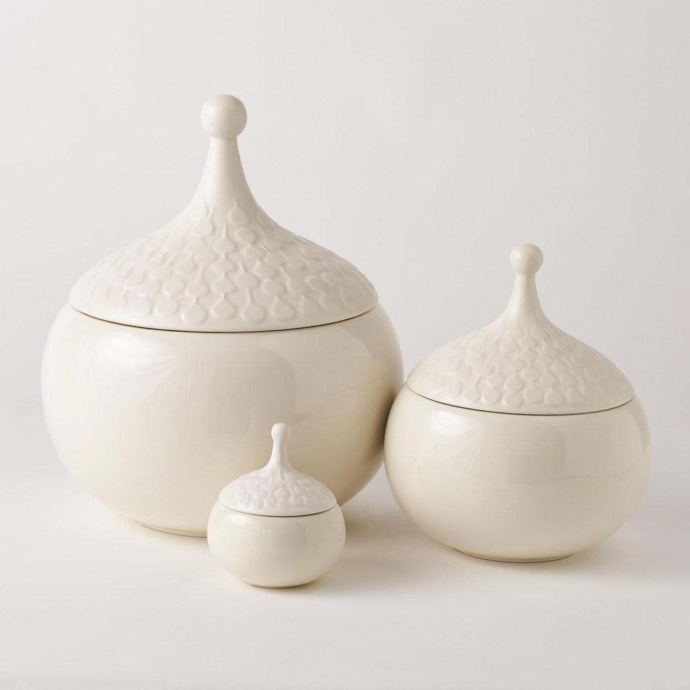 Global Views - Teardrop Vase, Chalk, Small