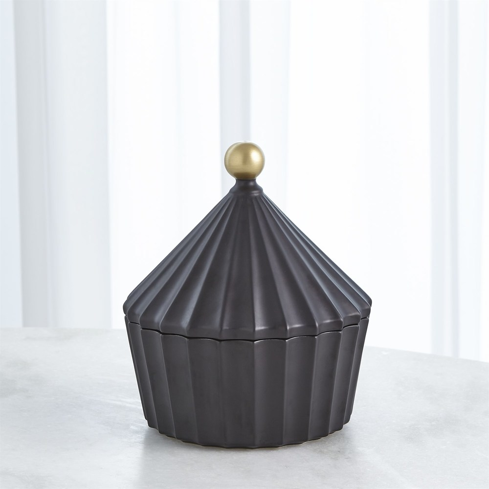 Global Views - Cirque Vessel with Lid, Short