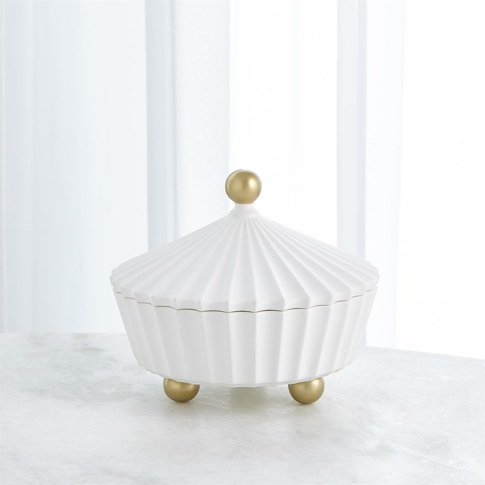 Global Views - Cirque Vessel with Lid, Squat