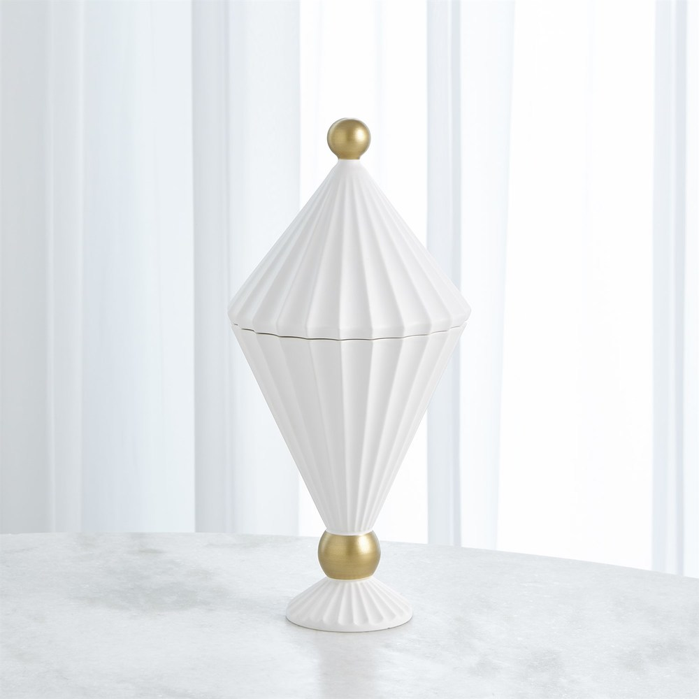Global Views - Cirque Vessel with Lid, Tall
