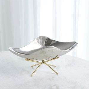 Thumbnail of GLOBAL VIEWS - Thistle Decorative Bowl with Brass Stand
