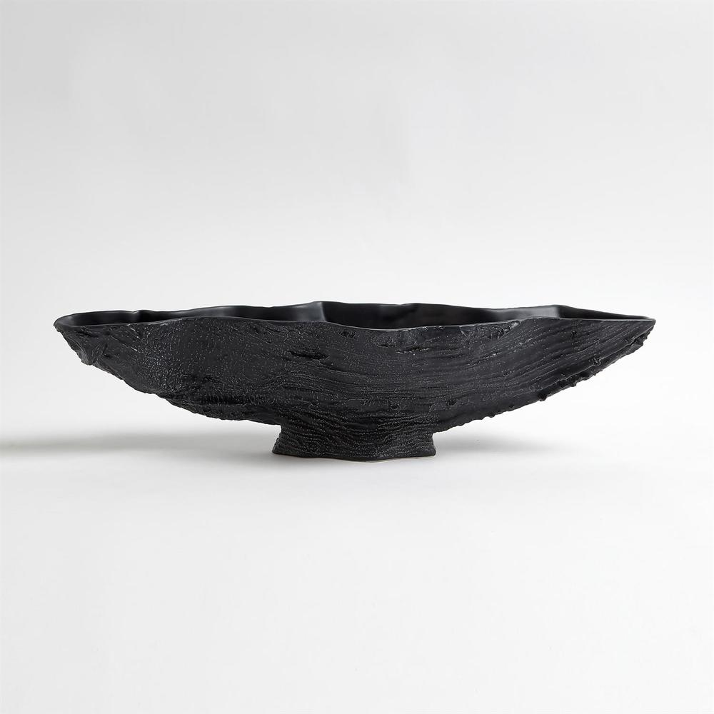 Global Views - Serpentine Lime Bowl, Matte Black