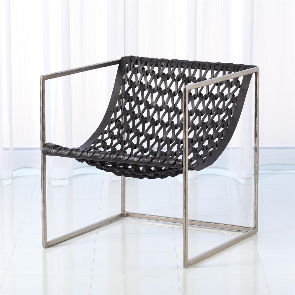 GLOBAL VIEWS - Knit Pearl Leather Chair