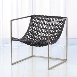 Thumbnail of GLOBAL VIEWS - Knit Pearl Leather Chair