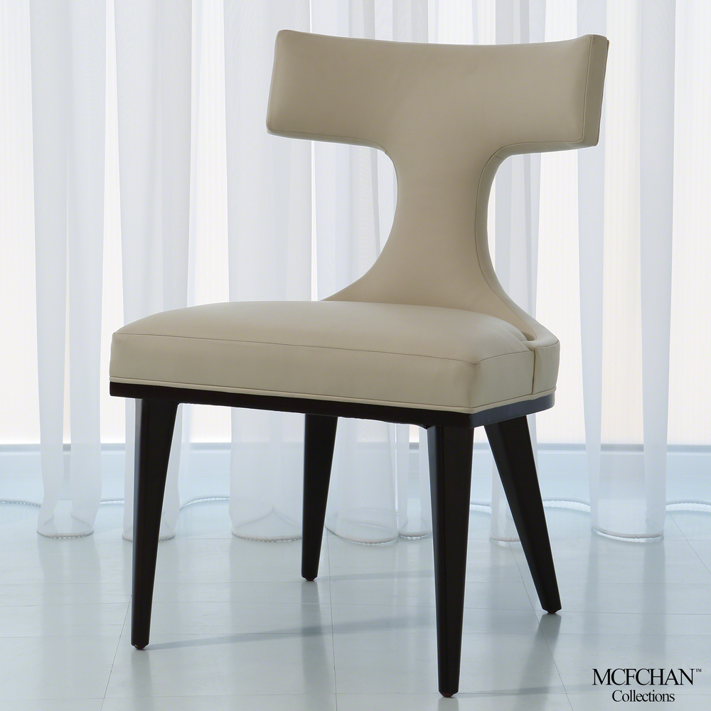 GLOBAL VIEWS - Anvil Back Dining Chair, Ivory Leather