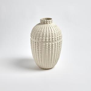 Thumbnail of Global Views - Nail Head Vase, Rustic White, Small