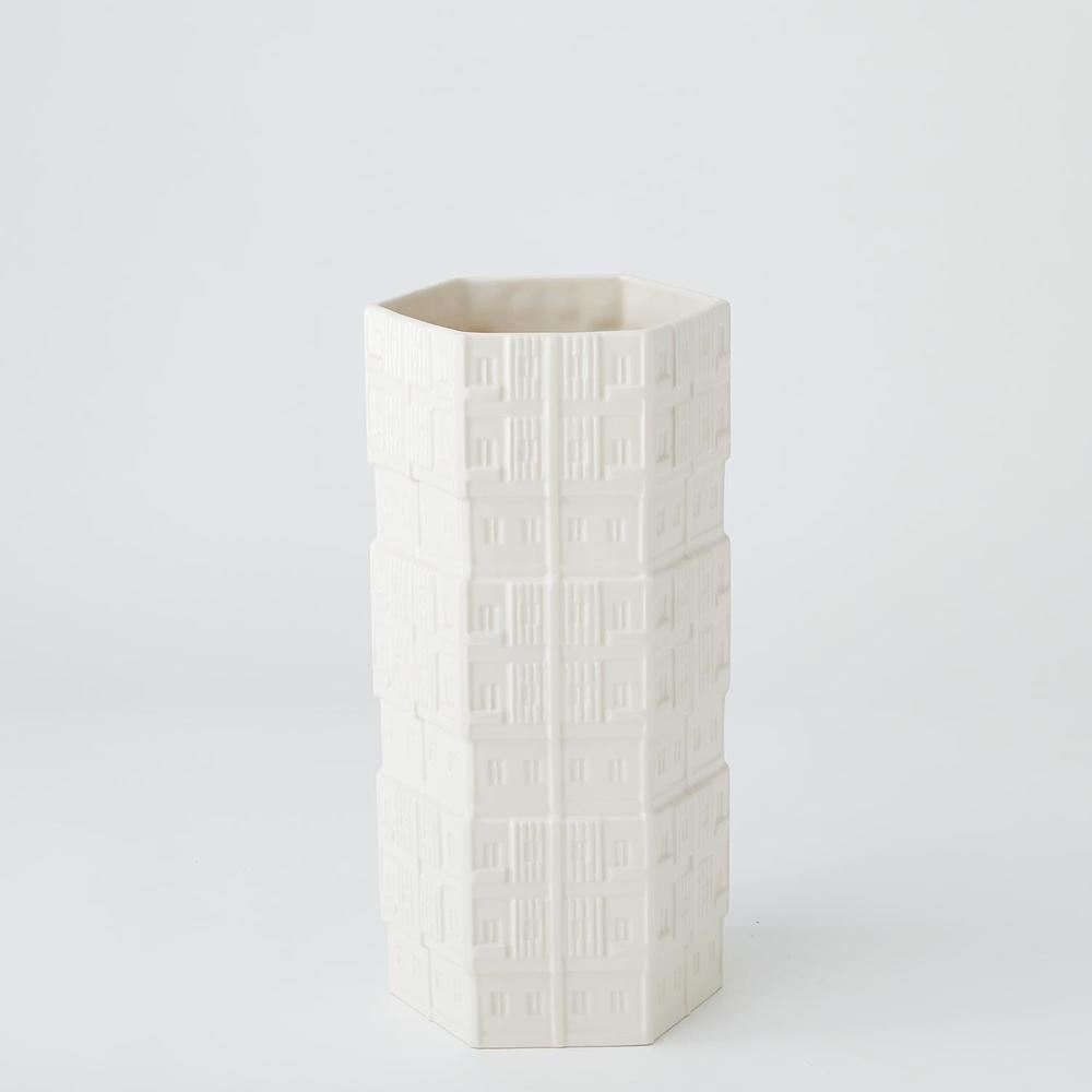 GLOBAL VIEWS - Hex Condo Vase, Medium
