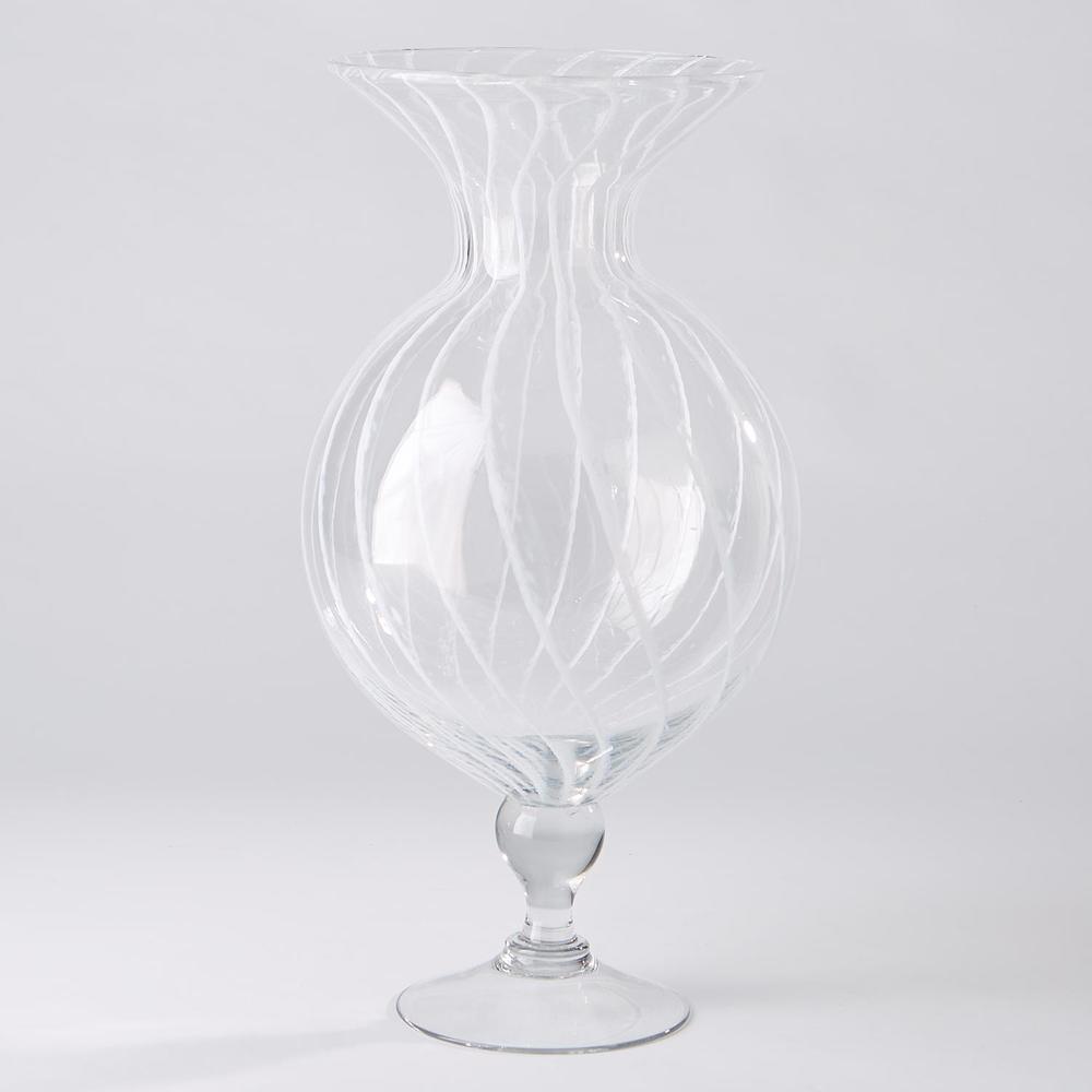 Global Views - White Stripe Vase