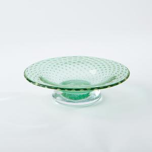 Thumbnail of Global Views - Granilla Green Footed Bowl with Golden Bubbles