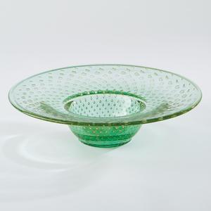 Thumbnail of Global Views - Granilla Green Bowl with Golden Bubbles