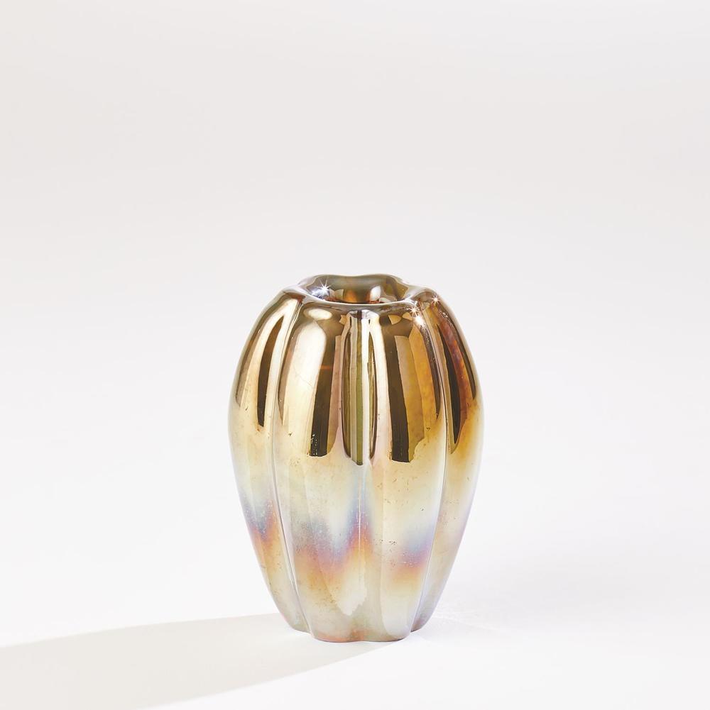 GLOBAL VIEWS - Ribbed Vase, Small