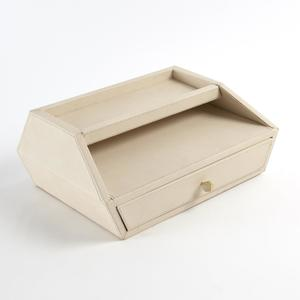 Thumbnail of Global Views - Tiffany Leather In/Out Letter Box