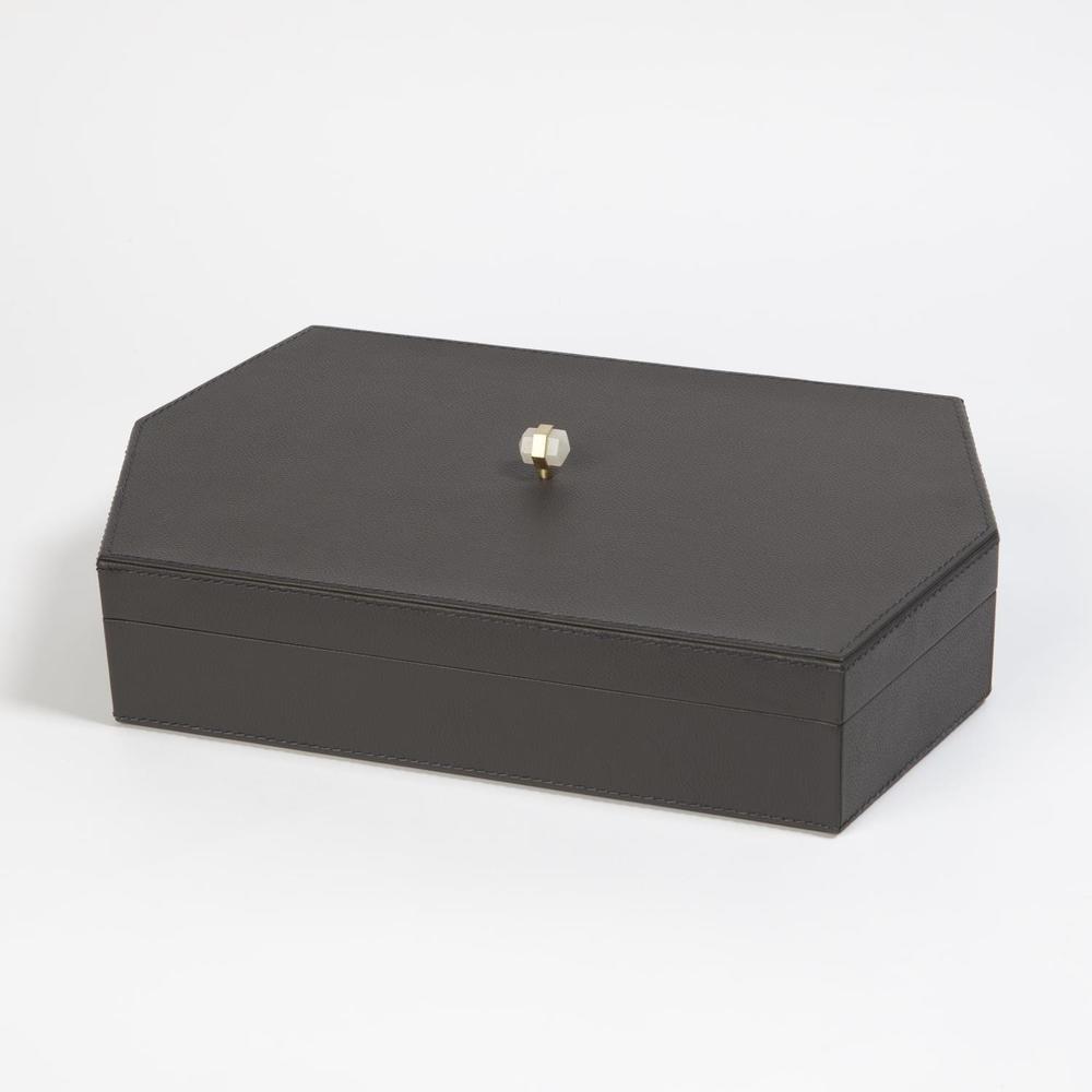 GLOBAL VIEWS - Tiffany Leather Box, Large