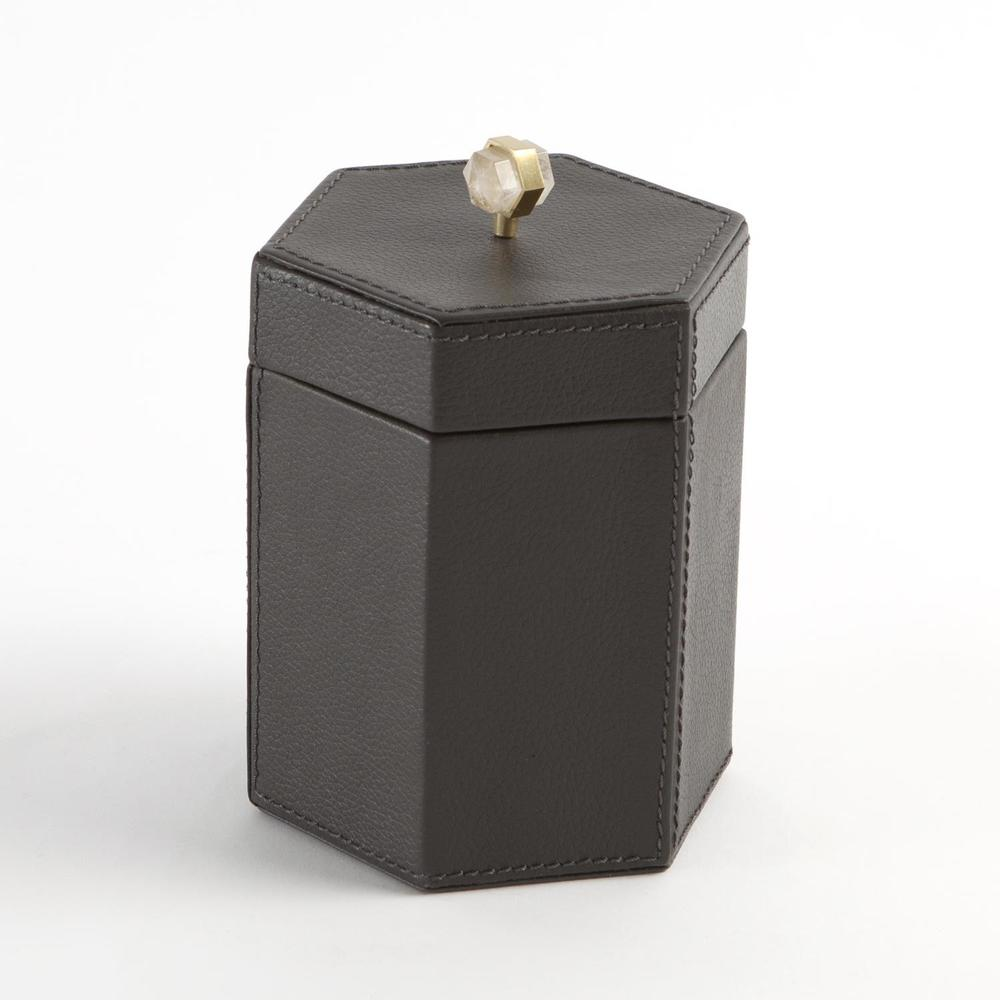 GLOBAL VIEWS - Tiffany Leather Box, Small