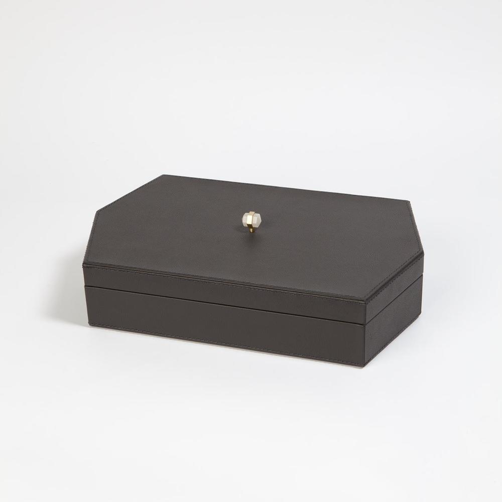 GLOBAL VIEWS - Tiffany Leather Box, Medium