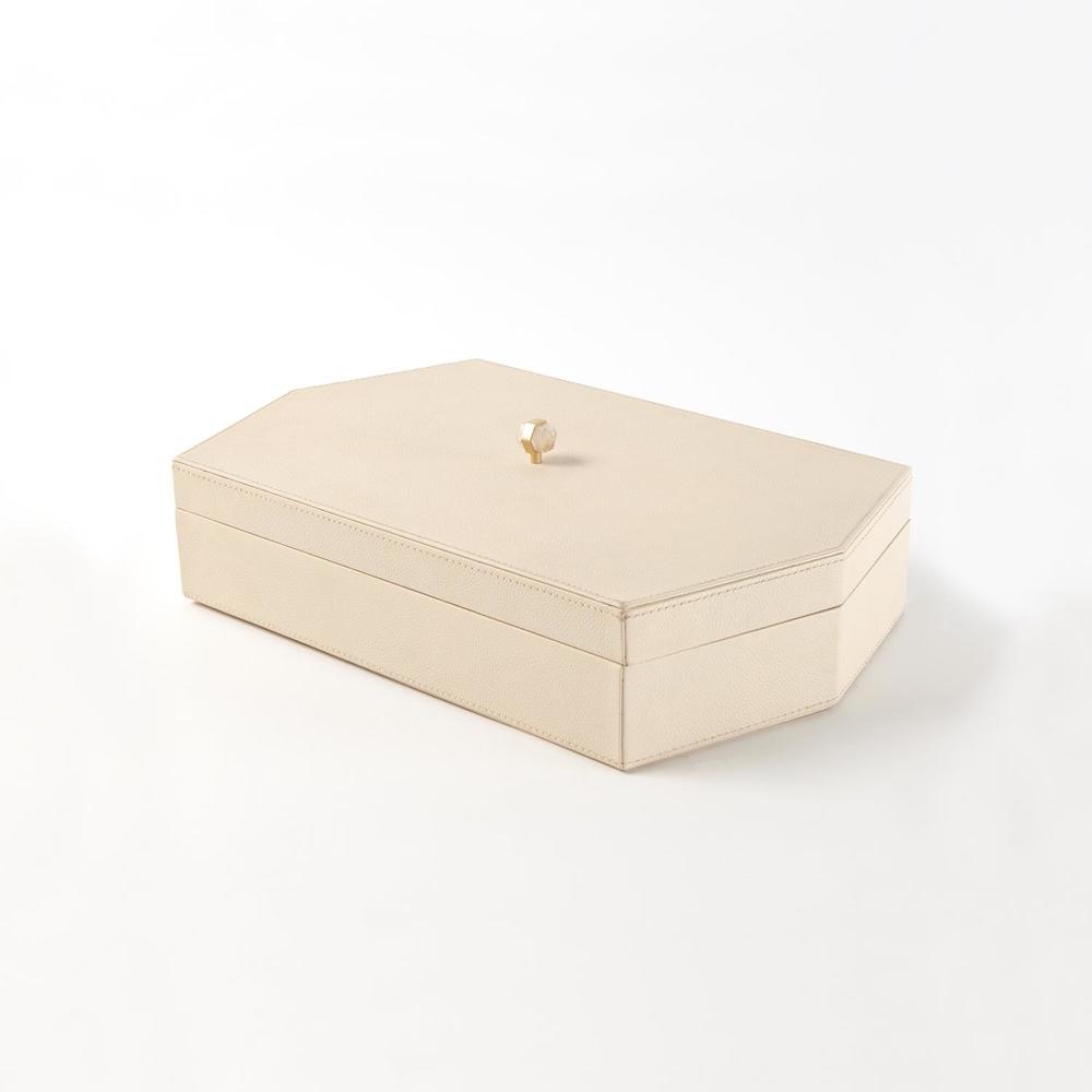 GLOBAL VIEWS - Tiffany Leather Box, Medium
