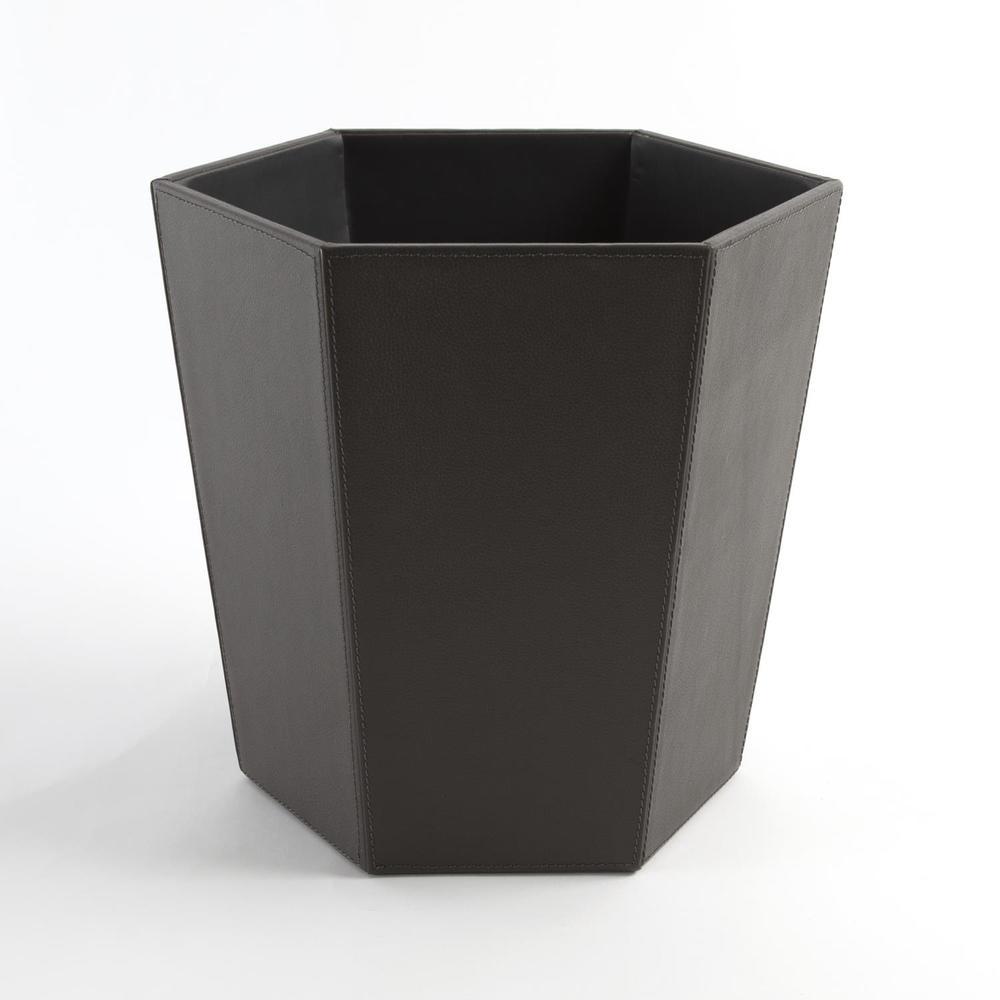 GLOBAL VIEWS - Tiffany Leather Wastebasket