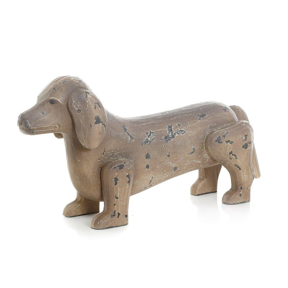 Go Home - Antique Painted Finish Dachshund Dog