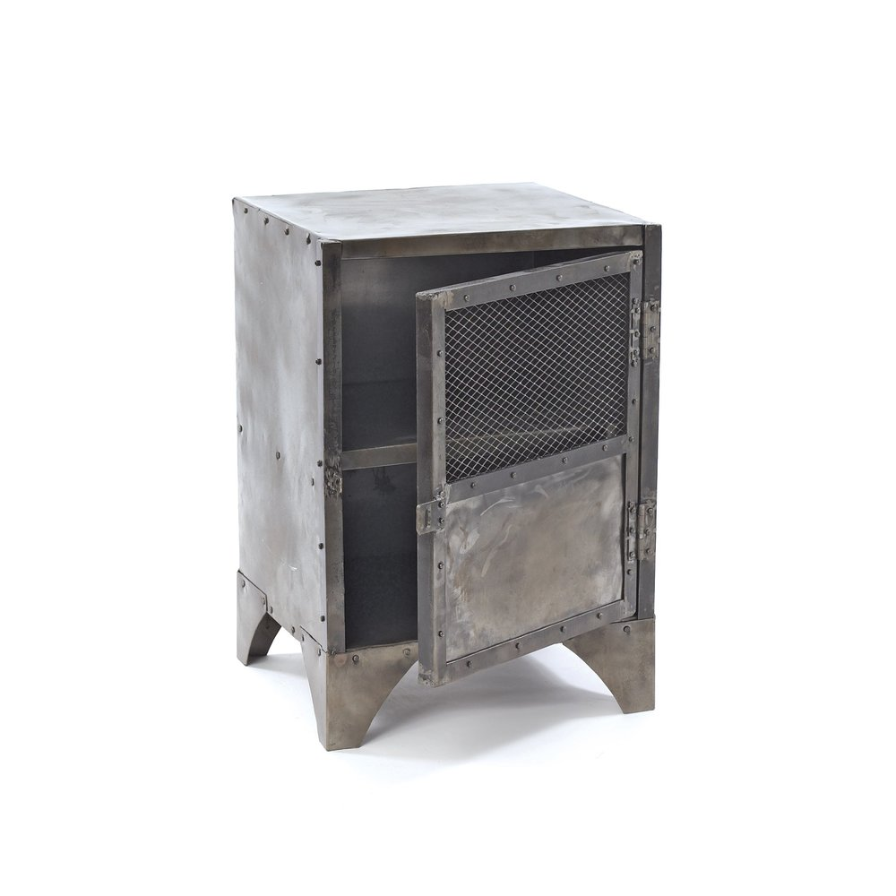 Go Home - Vintage Steel Shoe Locker Accent Cabinet