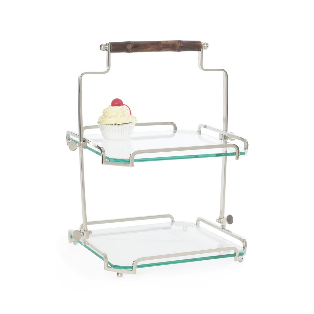 Go Home - Two Tier Bamboo Handle Stand
