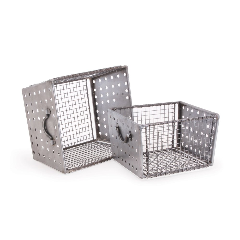 Go Home - Industrial Wire Bins, Set/2