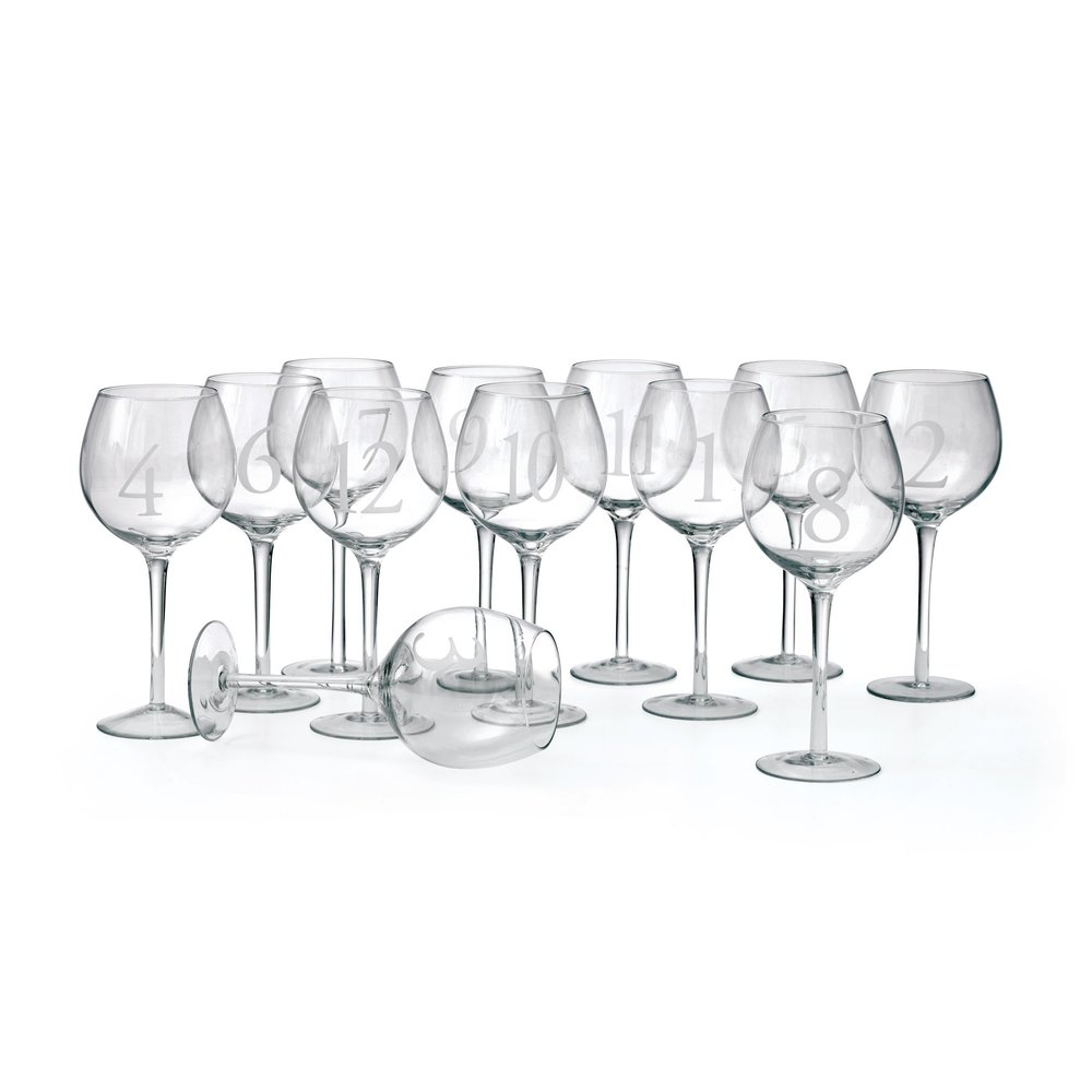 Go Home - Numerology Wine Glasses, Set/12