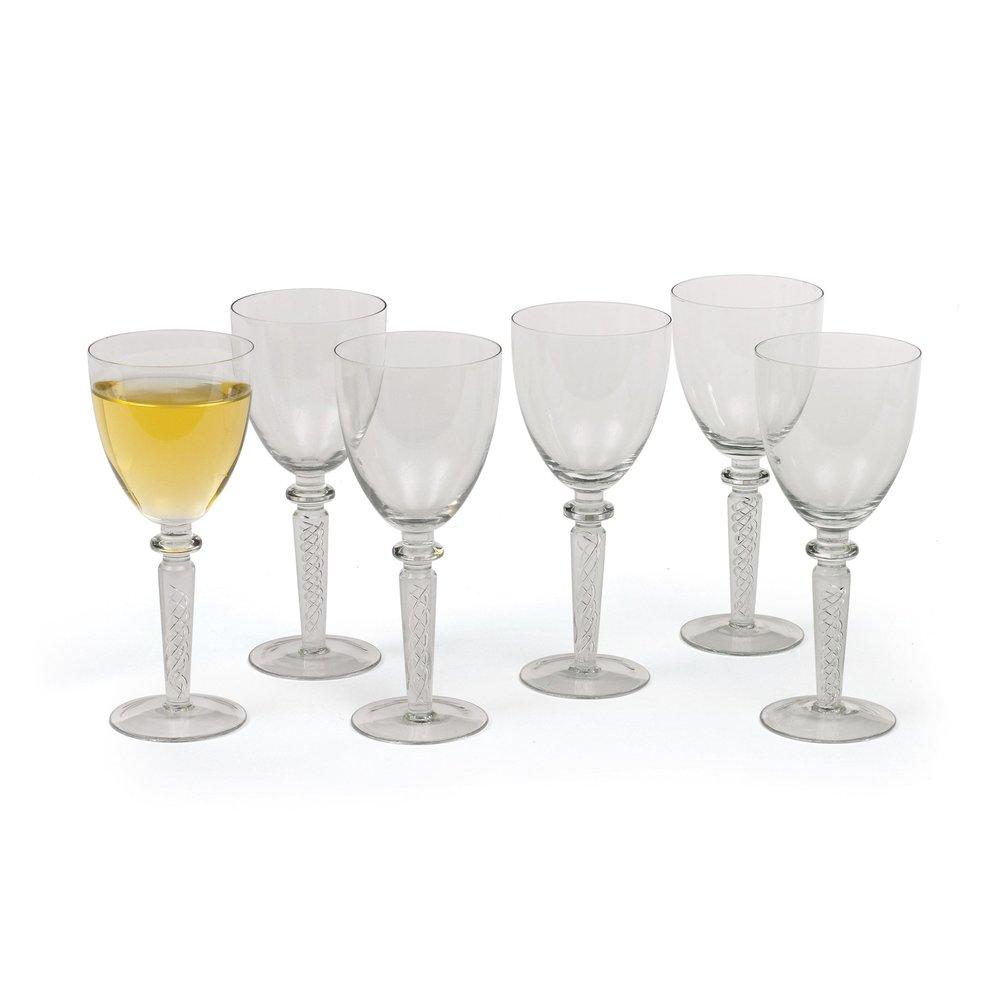 Go Home - Set of Six Coil White Wine Glasses